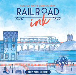 Railroad Ink: Deep Blue edition - for rent
